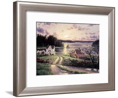 Island Sunset-Randy Van Beek-Framed Art Print