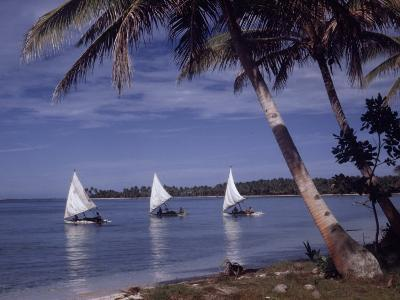 Islanders Visit Various Atolls to Sell and Purchase Goods-W^ Robert Moore-Photographic Print