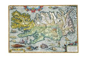Islandia 16th-Century Map of Iceland