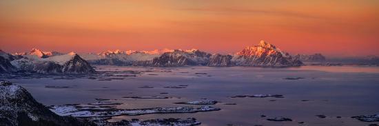 Islands in the sea, Austvagoy, Lofoten, Nordland County, Norway--Photographic Print