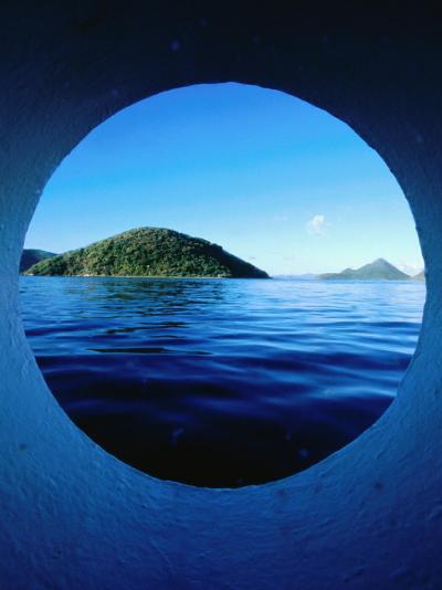 Islands Seem from Star Clipper Porthole, Tortola-Holger Leue-Photographic Print