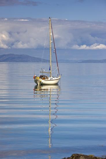 Isle of Colonsay, Scotland; Sailboat on the Ocean-Design Pics Inc-Photographic Print