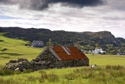 Isle of Colonsay, Scotland; Stone Farmhouse and Surrounding Field-Design Pics Inc-Photographic Print
