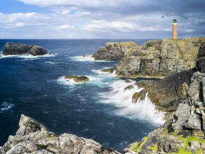 Isle of Lewis, Coast and Lighthouse at the Butt of Lewis. Scotland-Martin Zwick-Photographic Print
