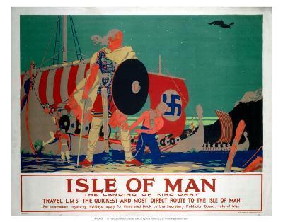 Isle of Man, LMS, c.1920s-Reginald Higgins-Art Print