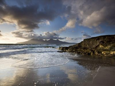 Isle of Rum from Singing Sands, Isle of Eigg, Inner Hebrides, Scotland, UK-Lee Frost-Photographic Print