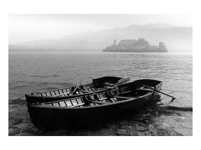 Isle of San Giulio in the Mist--Art Print