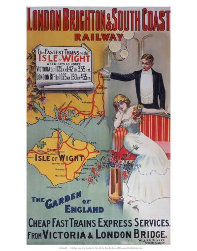 Isle of Wight: The Garden of England, LB&SCR, c.1905--Art Print