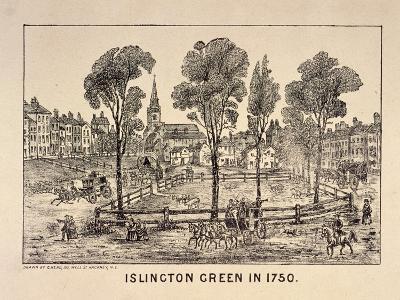 Islington Green, London, 1750-C Read-Giclee Print
