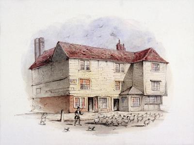 Islington Green, London, C1840-Frederick Napoleon Shepherd-Giclee Print