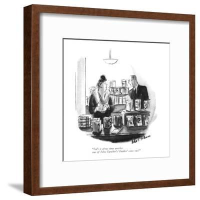 """""""Isn't it about time another one of John Gunther's 'Insides' came out?"""" - New Yorker Cartoon-Helen E. Hokinson-Framed Premium Giclee Print"""