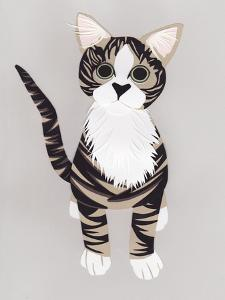 Pussycat, 2016, Paper by Isobel Barber
