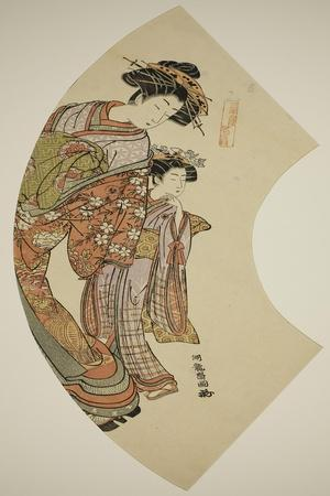 The Courtesan Hanaogi of the Ogiya and Her Attendant, C.1777-78