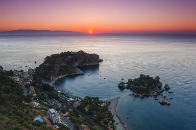 Isola Bella Beach and Isola Bella Island at Sunrise-Matthew Williams-Ellis-Photographic Print