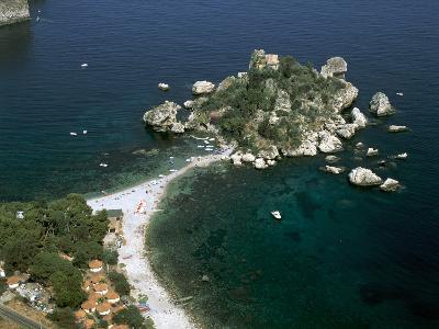 Isola Bella, Taormina, Sicily, Italy-Peter Thompson-Photographic Print