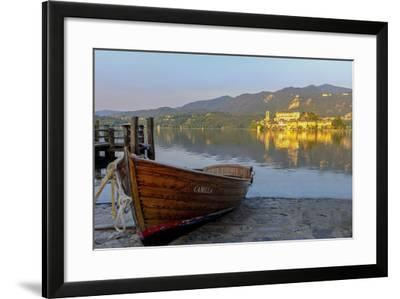 Isola San Giulio. San Giulio Island. Lake Orta. Piedmont, Italy-Tom Norring-Framed Photographic Print