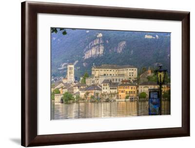 Isola San Giulio. San Giulio Island. Lake Orta. Piedmont, Italy-Tom Norring-Framed Photographic Print