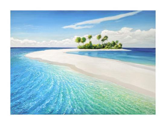 Isola tropicale-Adriano Galasso-Art Print