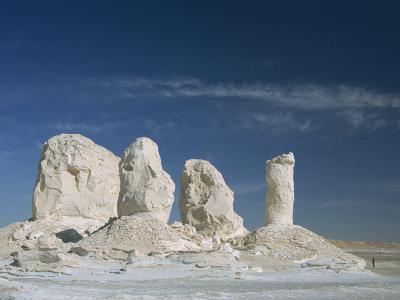 Isolated Chalk Towers, Remnants of Karst, Farafra Oasis, White Desert, Western Desert, Egypt-Waltham Tony-Photographic Print