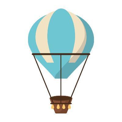 Isolated Hot Air Balloon Design- Jemastock-Art Print