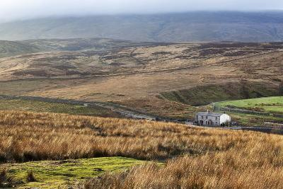 Isolated House by the Road in Garsdale Below Baugh Fell-Mark-Photographic Print