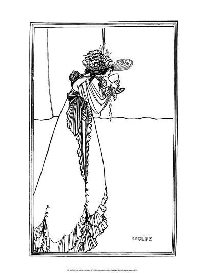 Isolde, 1890-Aubrey Beardsley-Art Print
