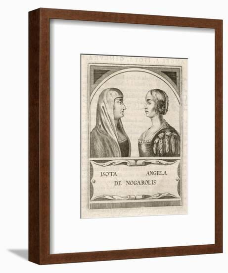 Isotta Nogarola, with Sister Angela: Italian Classical Scholar--Framed Giclee Print