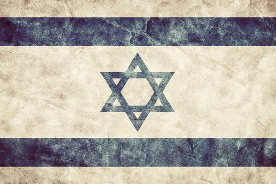 Israel Grunge Flag. Vintage, Retro Style. High Resolution, Hd Quality. Item from My Grunge Flags Co-Michal Bednarek-Photographic Print