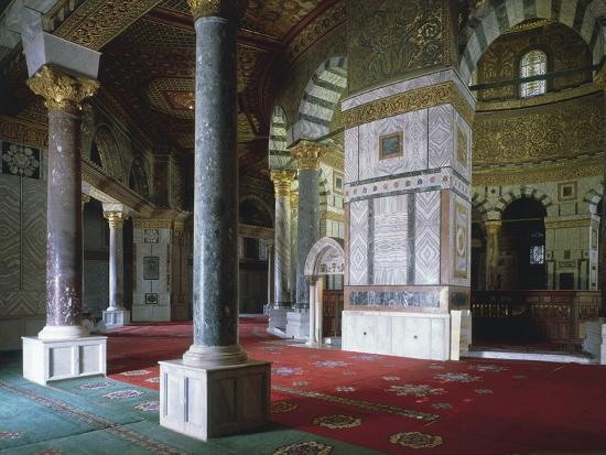 Israel, Jerusalem, Old Town, Temple Mount, Dome of Rock, Interior--Giclee Print