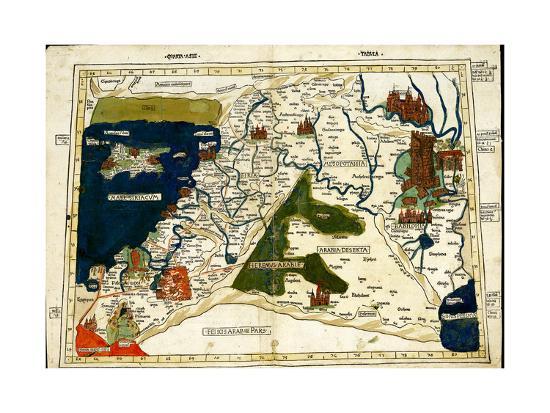 Israel, Palestine-Ptolemy-Art Print