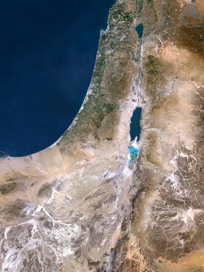 Israel, Satellite Image-PLANETOBSERVER-Photographic Print