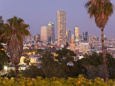 Israel, Tel Aviv, Jaffa, Downtown Buildings Viewed from Hapisgah Gardens Park-Gavin Hellier-Photographic Print