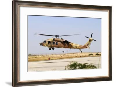 Israeli Air Force Uh-60 Yanshuf Helicopter Taking Off from Hatzerim Airbase, Israel-Stocktrek Images-Framed Photographic Print