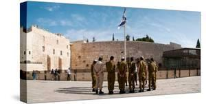 Israeli Soldiers Being Instructed by Officer in Plaza in Front of Western Wall, Jerusalem, Israel