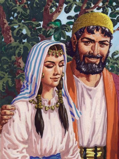 Issac and His Wife Rebekah-Pat Nicolle-Giclee Print