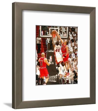 Chicago Bulls v Miami Heat - Game Four, Miami, FL - MAY 24: Joakim Noah and Udonis Haslem
