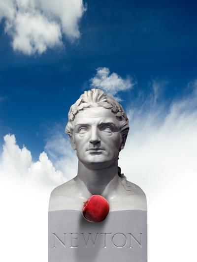 Issac Newton And the Apple, Artwork-Victor Habbick-Photographic Print