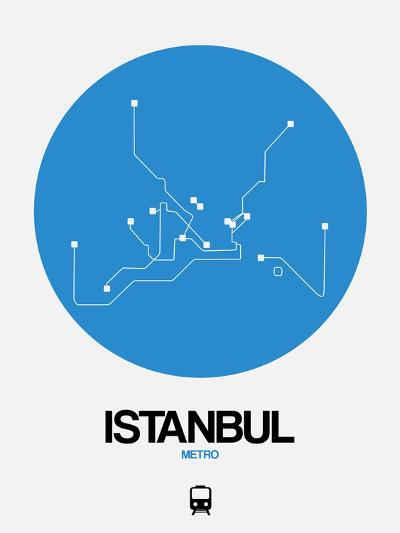 Istanbul Blue Subway Map-NaxArt-Art Print