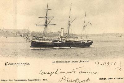 Istanbul Türkei, Russ. Segelschiff Donetz Im Hafen--Giclee Print