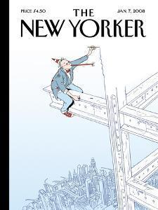 The New Yorker Cover - January 7, 2008 by Istvan Banyai