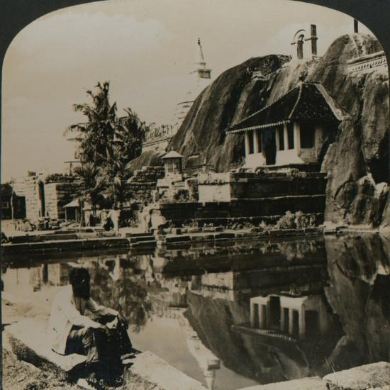 'Isuruminiya, an ancient and picturesque rock temple in the heart of Ceylon', 1907-Unknown-Photographic Print
