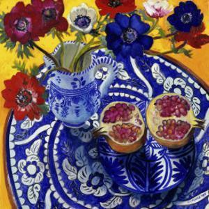 Anemones and Pomegranate (Anemones et Grenade) by Isy Ochoa