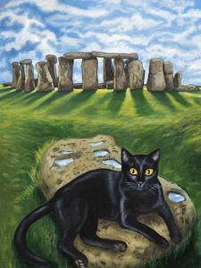 European Cat at Stonehenge/Great Britain by Isy Ochoa
