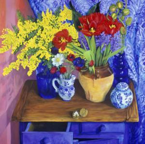 Walnuts and Flowers (Noix et Fleurs) by Isy Ochoa