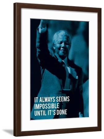 It Always Seems Impossible.-The Chelsea Collection-Framed Art Print