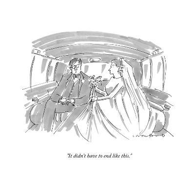 """""""It didn't have to end like this."""" - New Yorker Cartoon-Michael Crawford-Premium Giclee Print"""