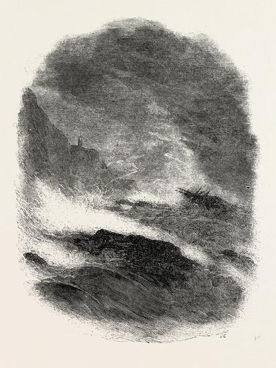 It Is a Wild Night at Sea, 1860--Giclee Print