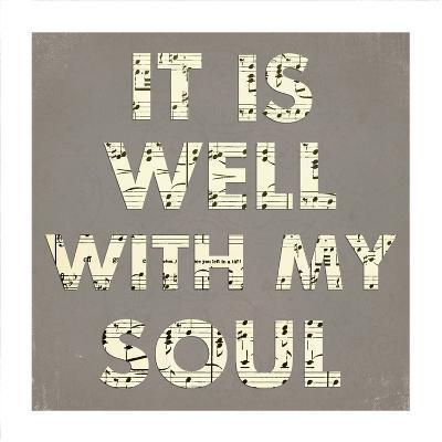 It Is Well With My Soul - Gray-Veruca Salt-Art Print