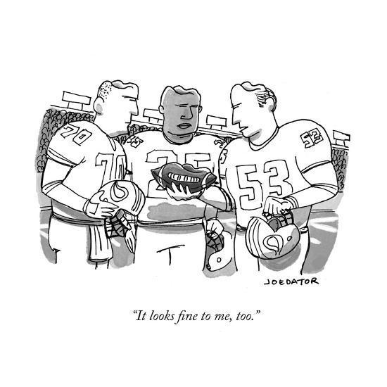 """It looks fine to me, too."" - New Yorker Cartoon-Joe Dator-Premium Giclee Print"