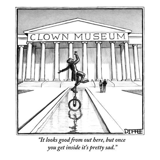 """""""It looks good from out here, but once you get inside it's pretty sad."""" - New Yorker Cartoon-Matthew Diffee-Premium Giclee Print"""